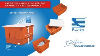 147043623 Nastaviteľná škatula do zateplenia na meraciu svorku bleskozvodu